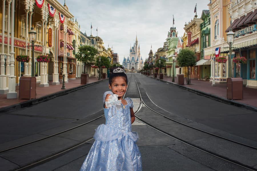Disney Photopass Virtual Backdrop of Main Street U.S.A.