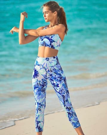 Lilly Pulitzer's LUXLETIC® Activewear outfit found at Disney Springs
