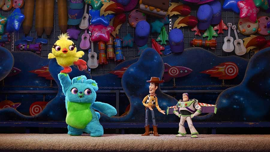 "Woody and friends from ""Toy Story 4"""