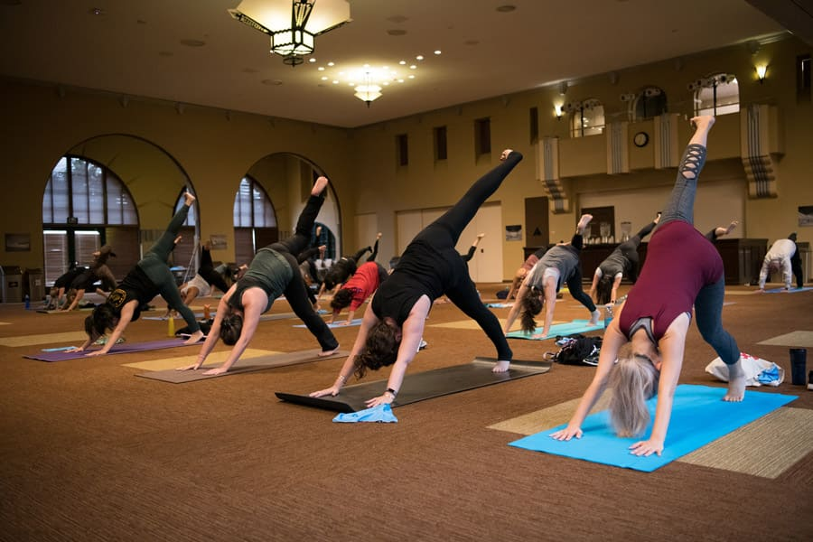 In Burbank and Glendale, cast members partook in relaxing flow sessions to kick off International Yoga Day.