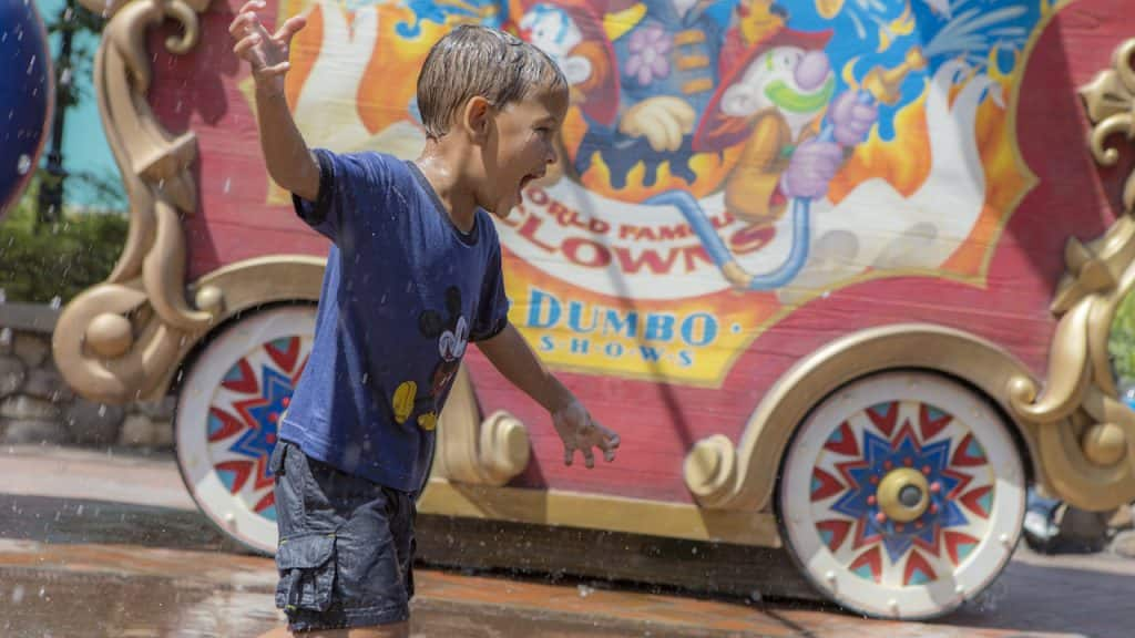 Child playing in  Casey Jr. Splash 'N' Soak Station