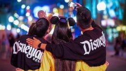 Friends enjoying Disneyland Resort Grad Nite