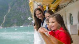 Family on an Alaskan Cruise