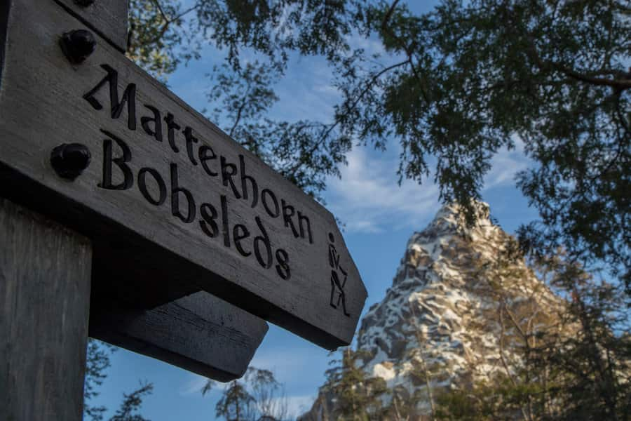 The Matterhorn Bobsleds at Disneyland park
