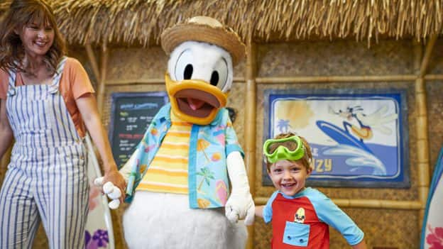Family with Donald at Disney's PCH Grill