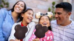 Family with Mickey Ice Cream Bars at Disneyland Resort
