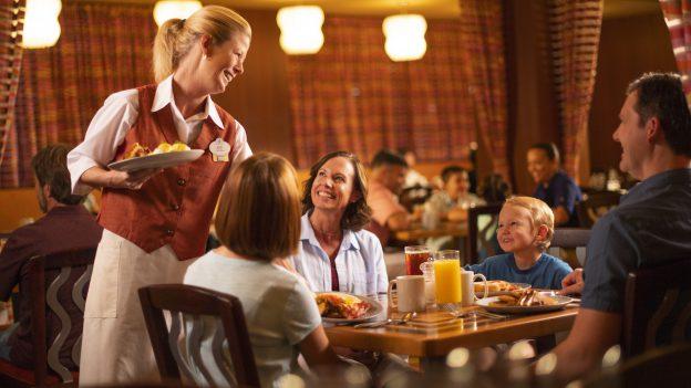 Family eating a meal at Walt Disney World Resort
