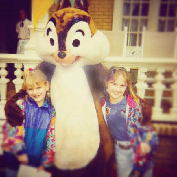 Kirstin Makela with her sister during their first family trip to Walt Disney World in 1997.