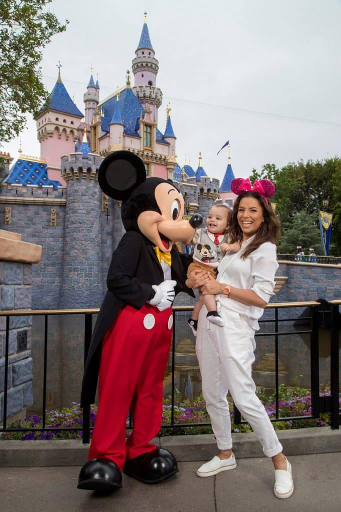 Eva Longoria and Son at Disneyland Resort