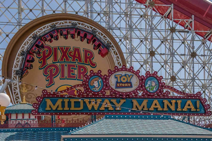 Toy Story Midway Mania!, Disney California Adventure park