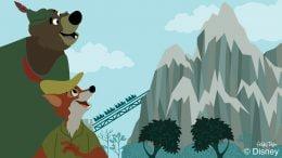 Robin Hood and Little John explore Expedition Everest at Disney's Animal Kingdom