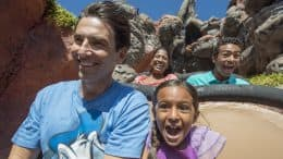 Family on Splash Mountain at Magic Kingdom Park