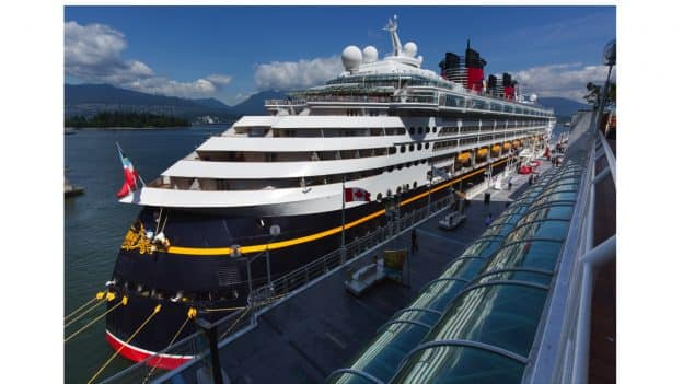 Disney Wonder in the Port of Vancouver