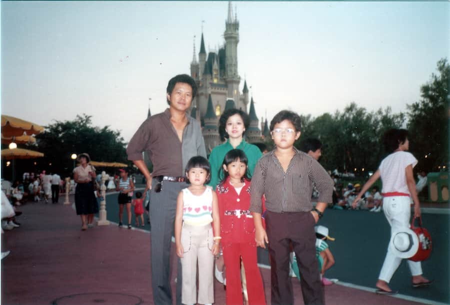 Margaret Kerrison, Story Editor at Walt Disney Imagineering and her family visiting Walt Disney World Resort