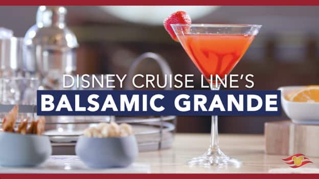 Signature Balsamic Grande Cocktail from Disney Cruise Line
