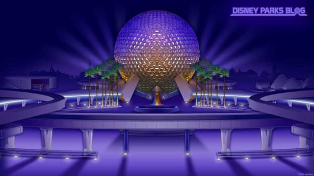 Classic Epcot Digital Wallpaper