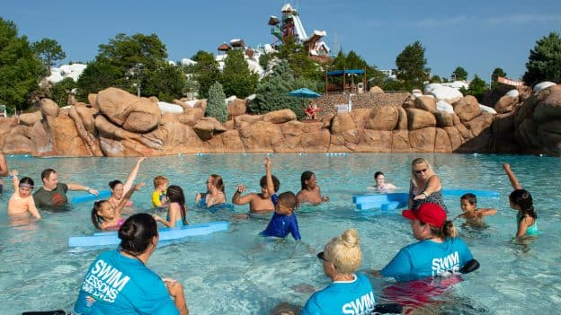 """10th annual """"World's Largest Swimming Lesson"""" at Disney's Blizzard Beach"""