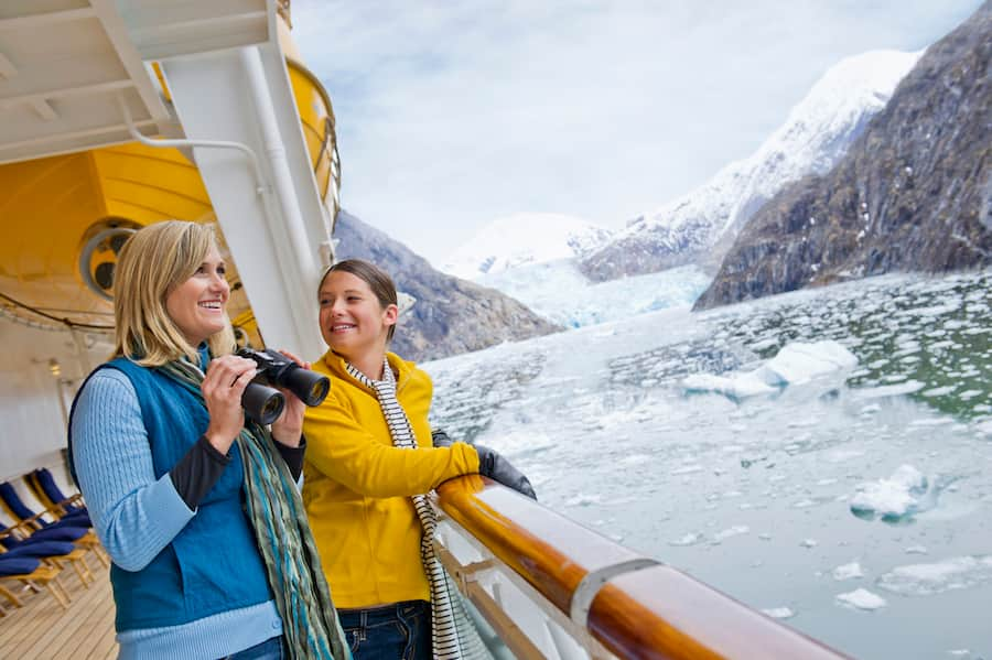 Mother and Daughter on Disney Cruise in Alaska