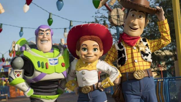 Buzz Lightyear, Jessie and Woody at Toy Story Land