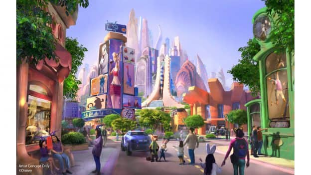 """Zootopia""-themed land coming to Shanghai Disneyland - Rendering"