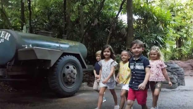 Kids in Disney's Animal Kingdom
