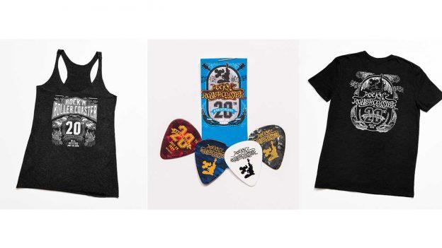 Rock 'n' Roller Coaster anniversary merchandise