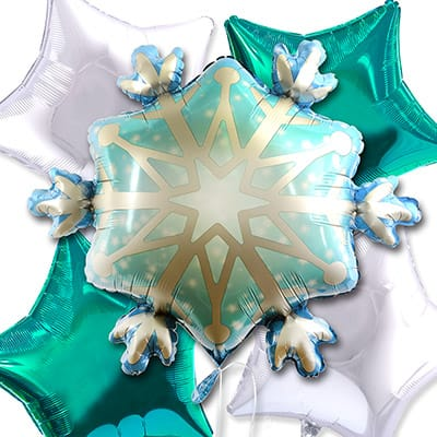 Disney Floral & Gifts - Snowflake Balloon Bouquet