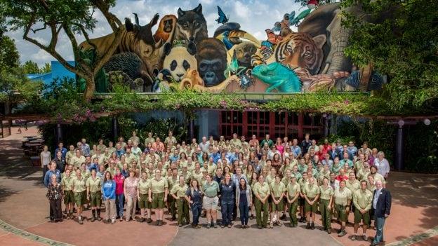 Disney's Animal Care Team group photo