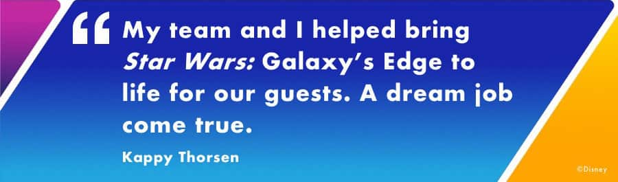graphic of quote from General Manager of Disneyland Park, Kappy Thorsen