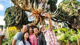 Group takes a selfie in Pandora - The World of Avatar at Disney's Animal Kingdom