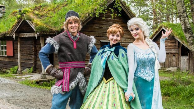 Anna, Elsa and Kristoff even stop by to join the festivities in Alesund, Norway with Disney Cruise Line