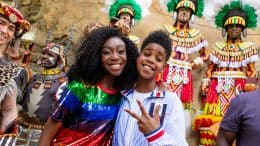 JD McCrary and Shahadi Wright Joseph at Disney's Animal Kingdom