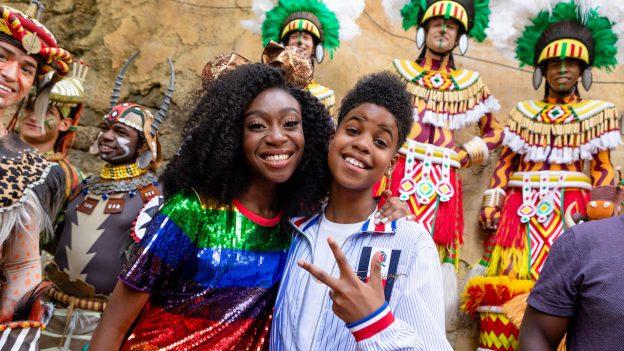 JD McCrary and Shahadi Wright Joseph at Disney's Animal Kingdom