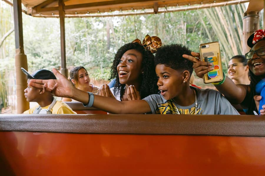 JD McCrary and Shahadi Wright Joseph Enjoy Hakuna Matata Time at Disney's Animal Kingdom