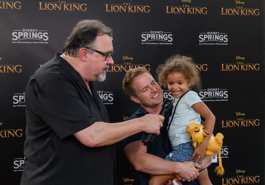 Producer Don Hahn interviewing guests after seeing 'The Lion King'