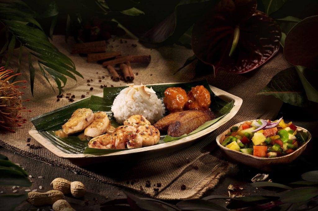 African-inspired dish from the Hakuna Matata restaurant at Disneyland Paris