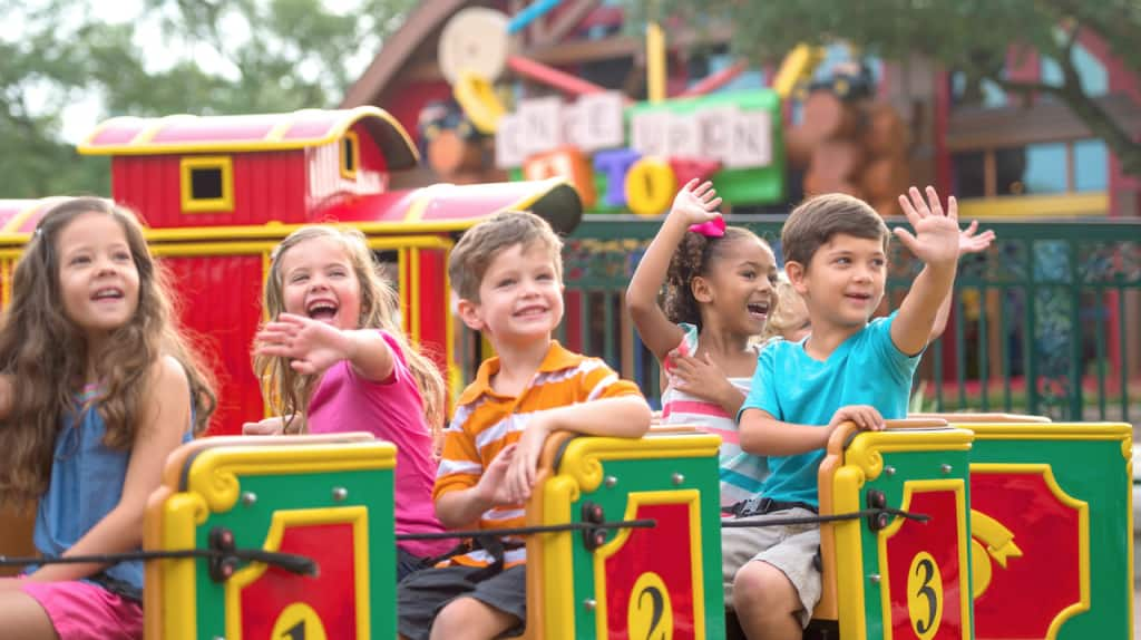 Kids on the Marketplace Train Express at Disney Springs