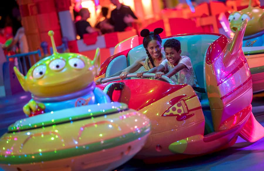 Alien Swirling Saucers in Toy Story Land Walt Disney World Special Events