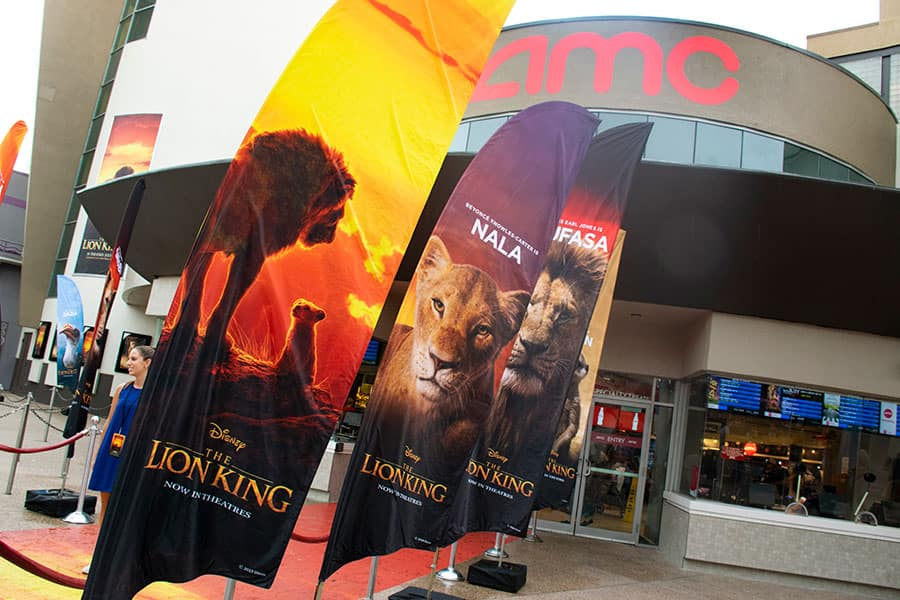 Lion King posters, outside AMC theaters, Disney Springs.