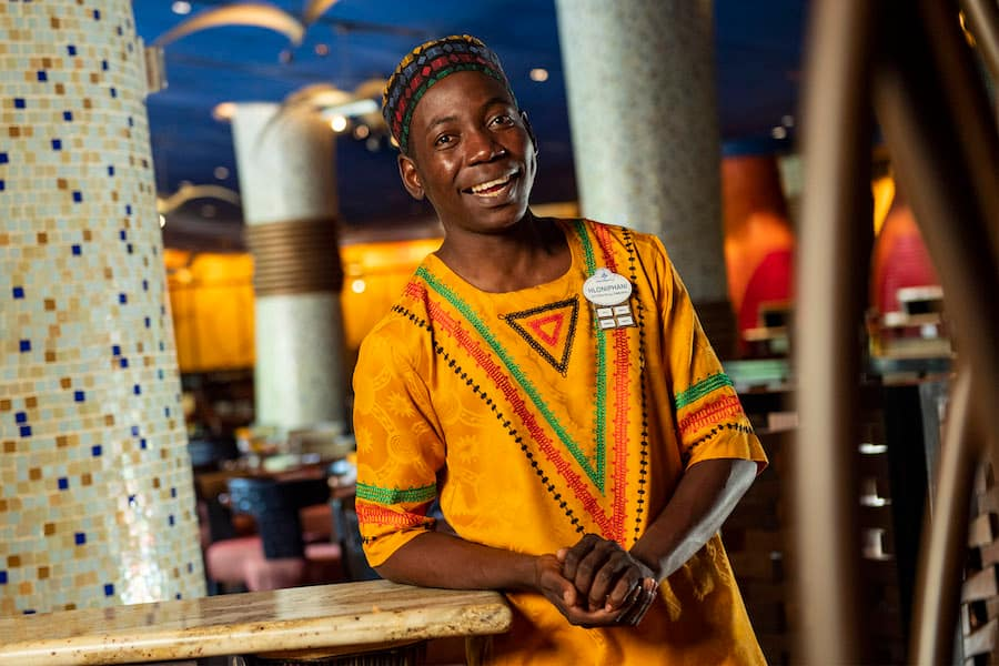 Greeter Hloniphani Dube from Jiko – The Cooking Place at Disney's Animal Kingdom Lodge
