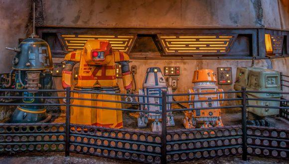 Droids of Star Wars: Galaxy's Edge at Disneyland Park