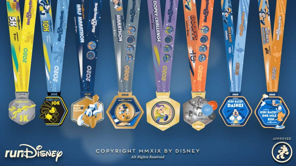 runDisney 2020 Walt Disney World Marathon Weekend Medal Designs
