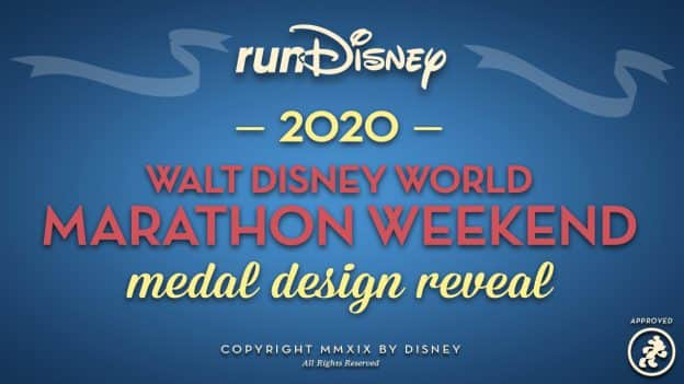 runDisney 2020 Walt Disney World Marathon Weekend Medal Design Reveal