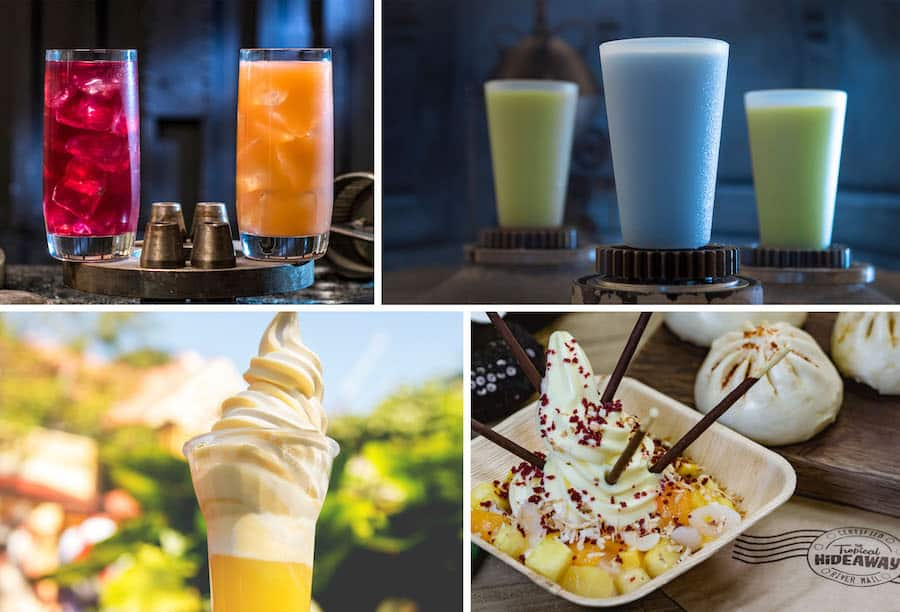 Various Cold Offerings from Disneyland Park