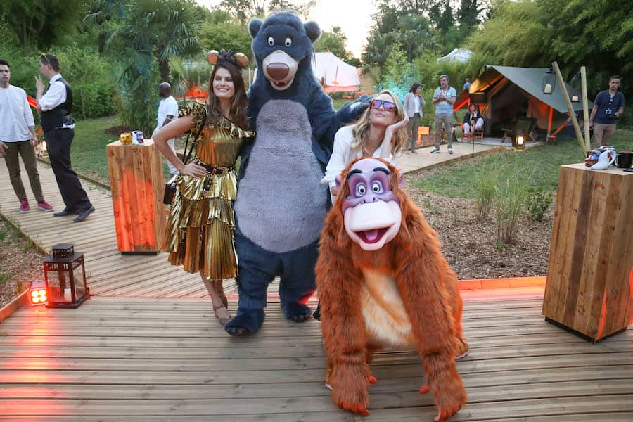 Fashion Models with Baloo and King Louis at Disneyland Paris