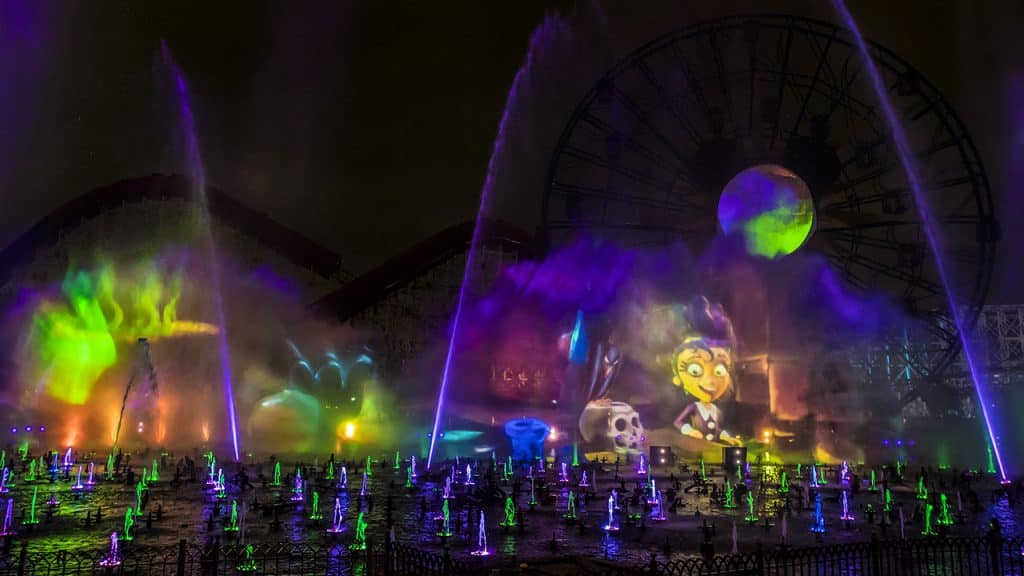 New World of Color at Oogie Boogie Bash