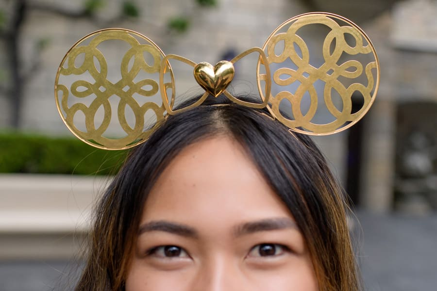 Gold Minnie ear headband