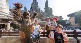 The Ridgeway family at Star Wars: Galaxy's Edge
