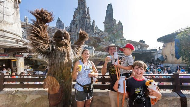 The Ridgeway family at Star Wars: Galaxy's Edge
