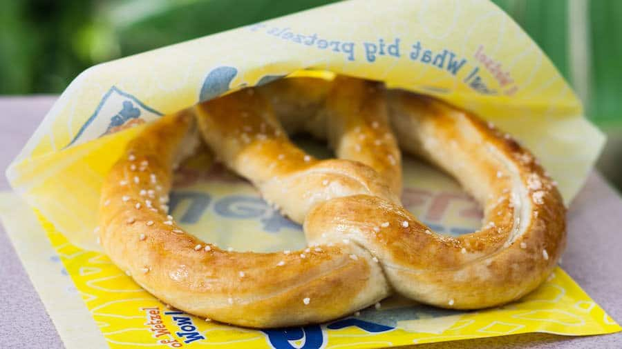 Salted Pretzel from Wetzel's Pretzels at the Downtown Disney District